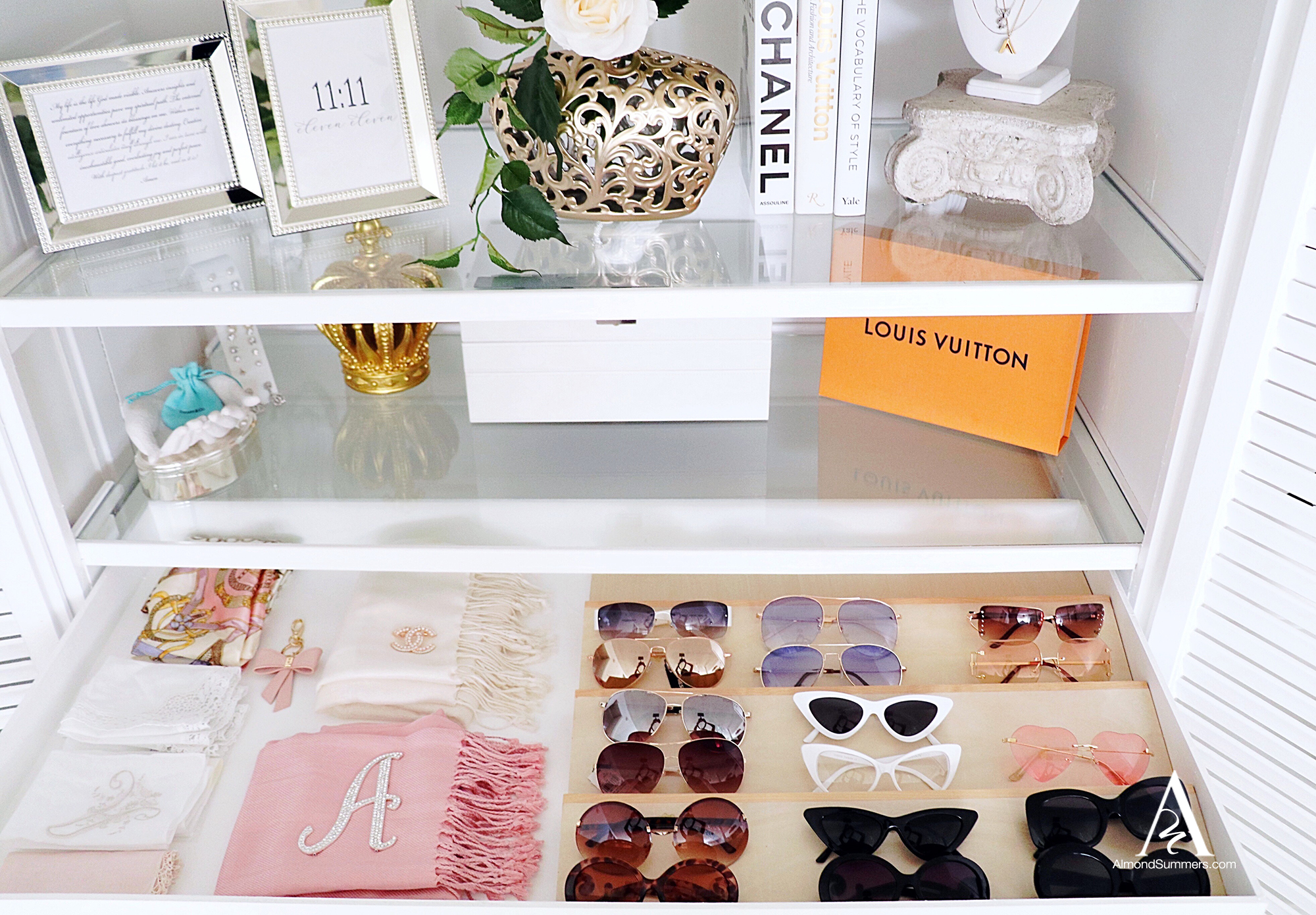 closet sunglasses drawer insert tray